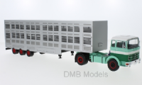 IXO Mercedes LPS 1632, Green / White, cattle transporter, 1970